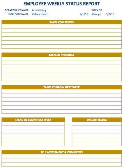 weekly schedule templates  excel progress report