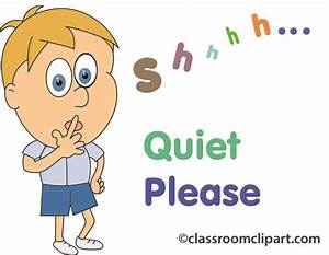 People Clipart- quiet_please_05 - Classroom Clipart