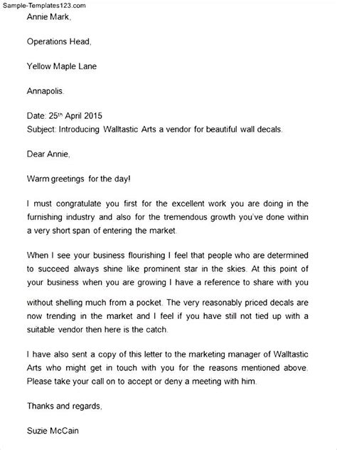 company introduction letter sample templates sample