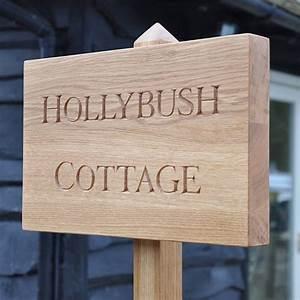 Bespoke, Hand, Carved, Oak, House, Sign, By, The, Oak, U0026, Rope, Company