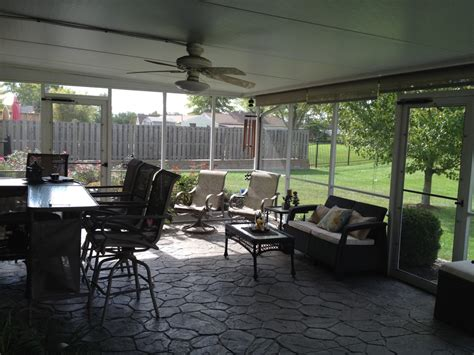 patio contractors patio contractor explains how to clean a screened porch c d screen glass inc forest park