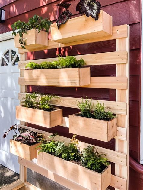 Wall Planter Box by Diy Vertical Garden Wall Planter With Plans The Handyman