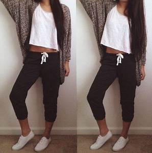 7 cool school outfits with sweatpants - myschooloutfits.com