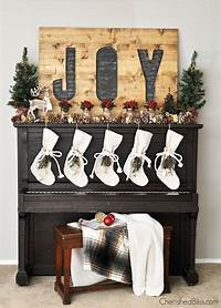 inspiring rustic fireplace mantel Christmas Mantel Inspiration- At Home with The Barkers