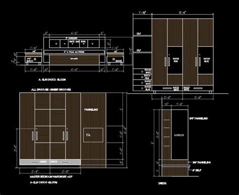 Wardrobe Details DWG Plan for AutoCAD • Designs CAD