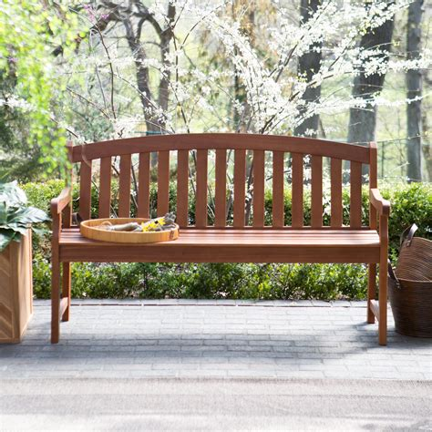 Coral Coast Amherst Curved Back Outdoor Wood Garden Bench