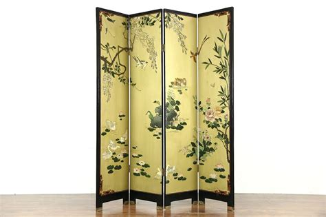 sold coromandel carved  panel chinese screen harp gallery