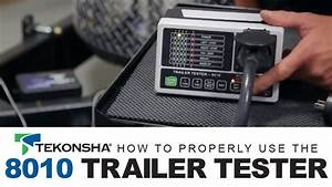 Using Your Tekonsha 8010 Trailer Tester