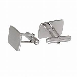 Kerzentablett Silber Rechteckig : handgefertigte manschettenkn pfe sterling silber mit gravur rechteckig ~ Indierocktalk.com Haus und Dekorationen