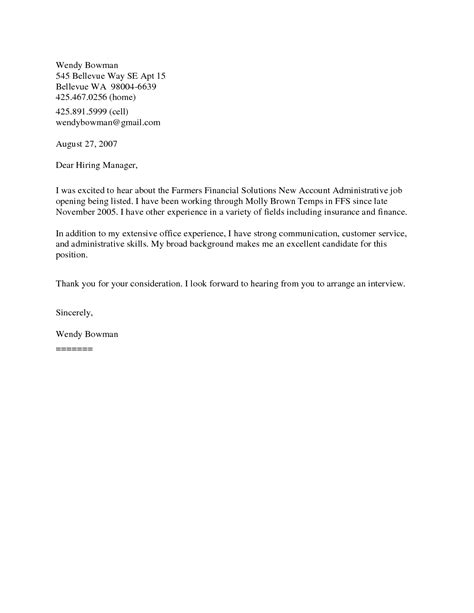 Employment Objective Or Cover Letter by Fascinating General Cover Letter Sles For Employment 45