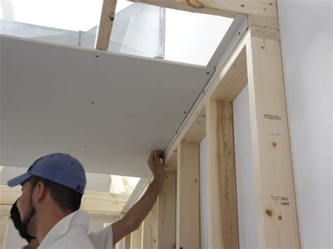 hanging drywall on angled ceiling truss backing angle trim tex drywall products