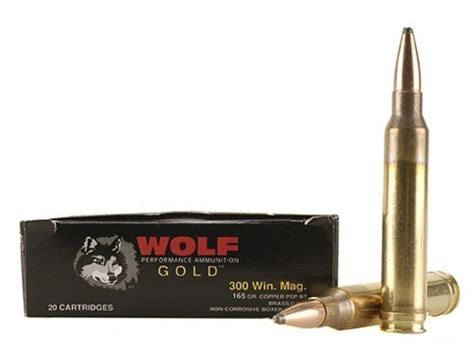 Wolf Gold Ammo 300 Winchester Mag 165 Grain Soft Point