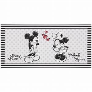 Minnie Mouse Teppich : wandbild keilrahmen kunstdruck 33x70 disney minnie und mickey maus schwarz wei ~ Indierocktalk.com Haus und Dekorationen