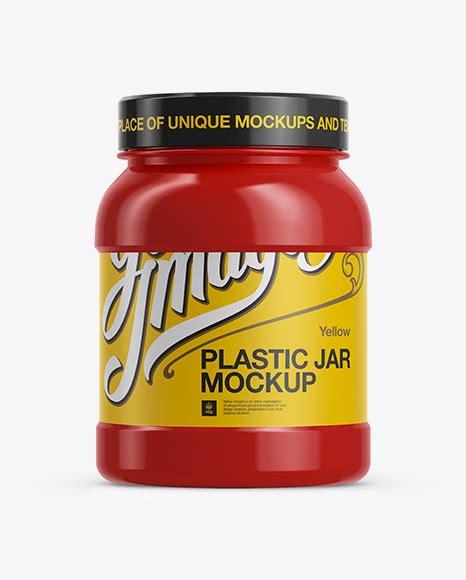 Jar mockups object mockups packaging mockups. Glossy Protein Jar Mockup - Glossy Plastic Jar withScrew ...