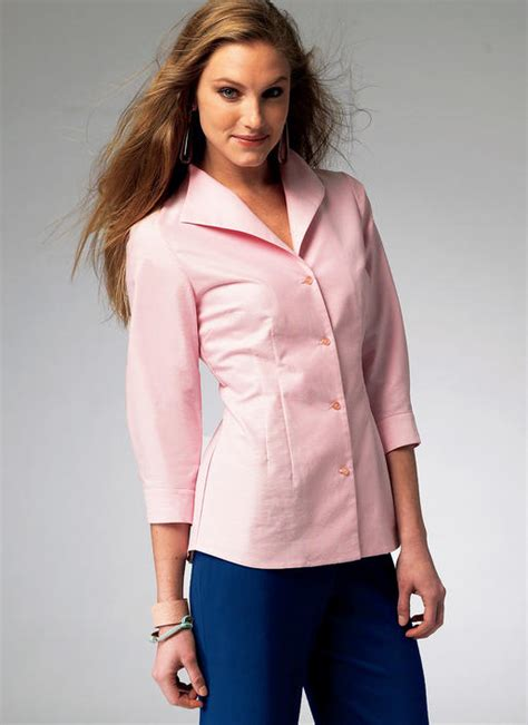 misses fold  collar shirts sewing pattern
