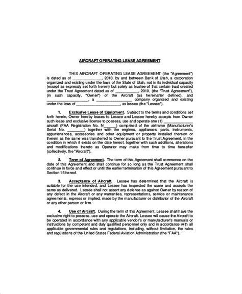 equipment lease templates word  google docs