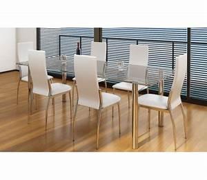 Stühle Esszimmer Günstig : esszimmer st hle 6er set wei chrom kunstleder g nstig kaufen ~ Markanthonyermac.com Haus und Dekorationen