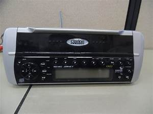 Clarion Xmd3 Marine Stereo Head Unit W   Wire Harness - Tested