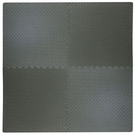 foam mats home depot trafficmaster black plate 2 ft square