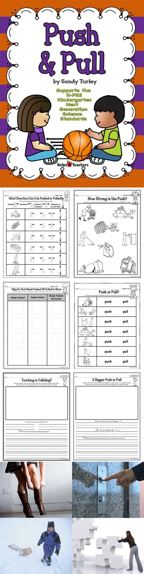 A pull moves things towards you. NGSS K.PS2-1: Push and Pull   To be, Activities and Kindergarten