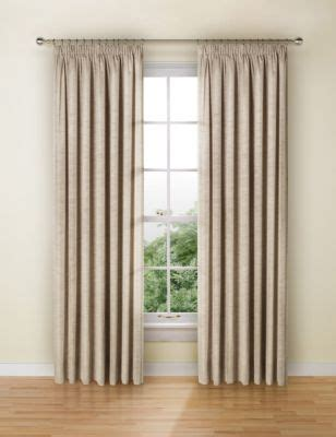 faux silk pencil pleat curtains ms