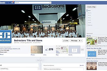 bedrosians tile and goes social 2012 05 01