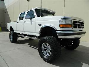 Lifted 1997 Ford F350 Crew Cab Shortbed 4x4 Xlt 460 V8 Gas