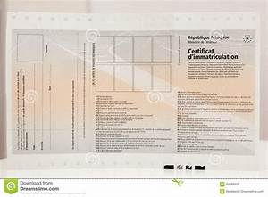 Front View Of Vehicle Registration Certificate Certificat