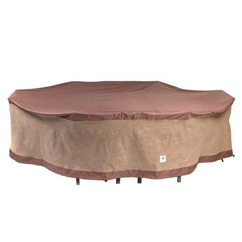 duck covers ultimate 109 in l rectangle oval patio table