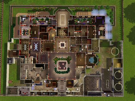 house plans sims floor mansion plan house plans