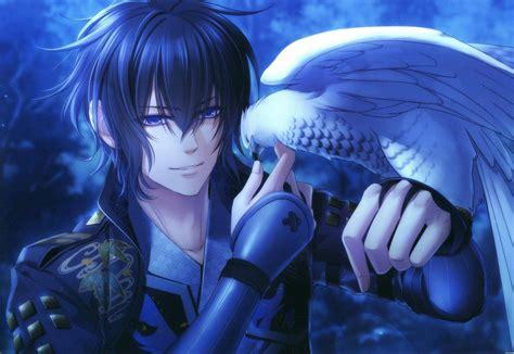 fond decran des oiseaux anime yeux bleus garcons anime bleu hawks aigle toki  kizuna
