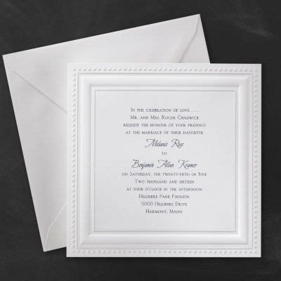 bright white squares invitation  images wedding