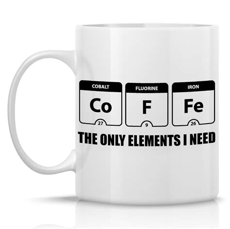 Periodic Table of Elements coffee mug funny coffee by HumerusWares