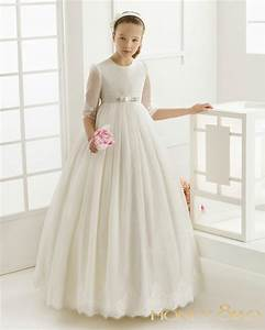 honey qiao flower girl dress illusion sleeves first With robe de confirmation