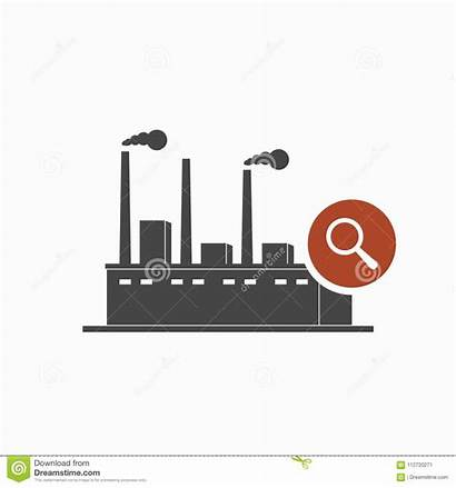 Factory Symbol Explore Icon Sign Research Inspect
