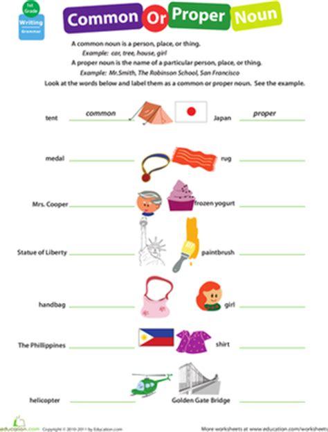 Get Into Grammar Common Or Proper Noun?  Worksheet Educationcom