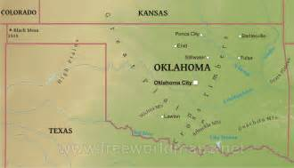 Oklahoma Physical Features Map