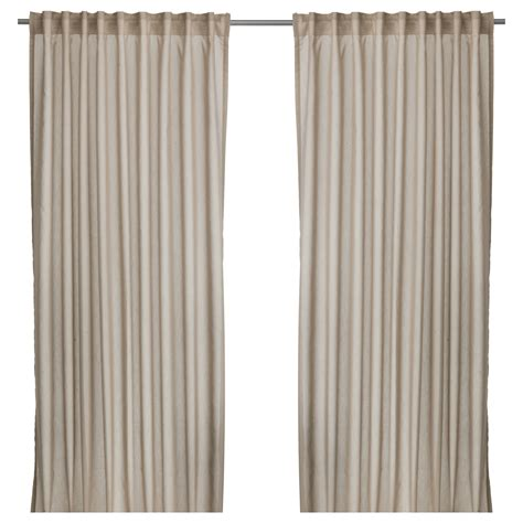 vivan curtains 1 pair beige 145x250 cm ikea