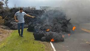 Hawaii Kilauea Volcano Eruption  Aerial Views Show Slow