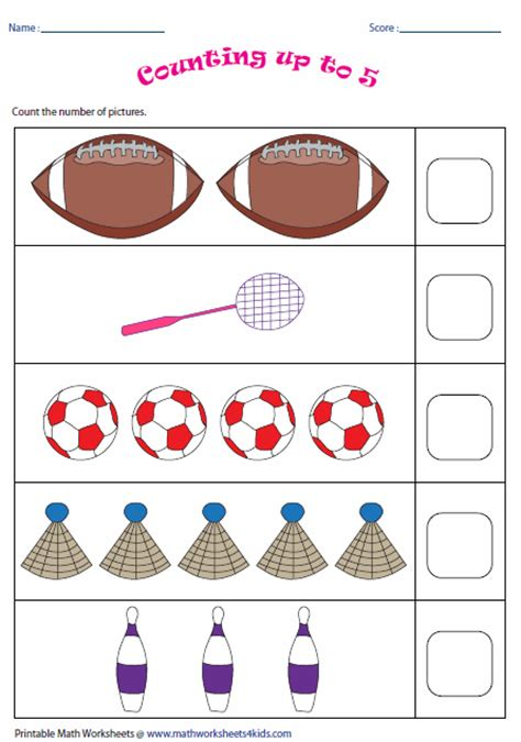 Counting Objects Worksheets For Grade 1  Writing Numbers Count And On Pinterestcounting Objects