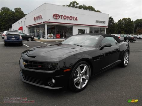 Black Convertible Camaro by 2011 Chevrolet Camaro Ss Rs Convertible In Black 165635