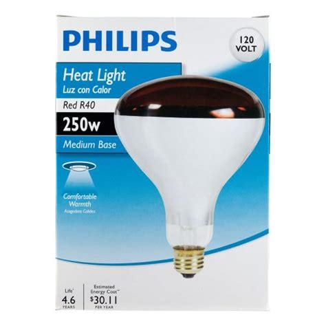 heat l light bulb philips 415836 heat l 250 watt r40 flood light bulb