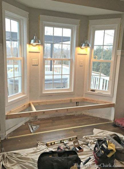 bay window seating living room alcove  super ideas