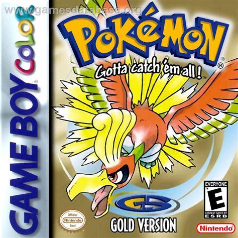 Pokemon Gold Version Nintendo Game Boy Color Games