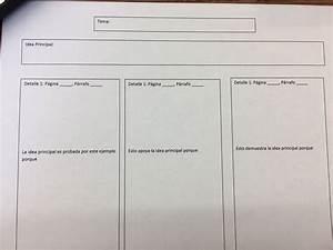 Main Idea Graphic Organizer With Explanation Sentence