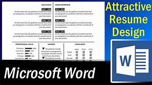 single page resume format in word microsoft word With how to make attractive resume