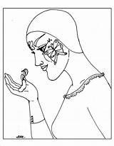 Pierrot Coloring Metamorphosis sketch template