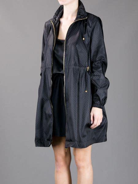 gucci rain coat  black lyst