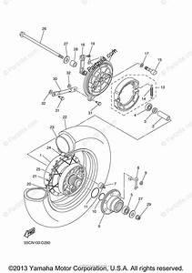 Yamaha Motorcycle 2005 Oem Parts Diagram For Rear Wheel