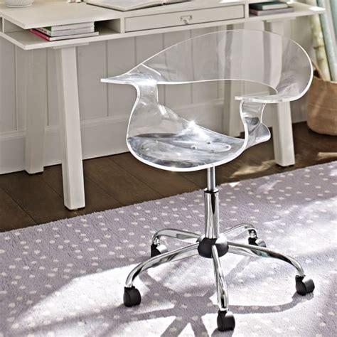 acrylic desk chair acrylic swivel chair pbteen
